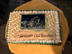 La torta della ricorrenza con il Cervino